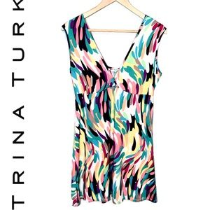 Tina Turk Multi Color Tank Dress.  Size Medium.